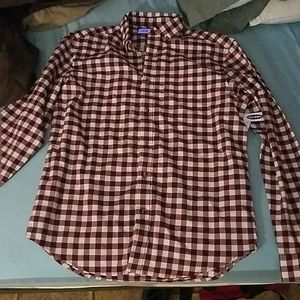 Red an white flannel never worn selling for 15